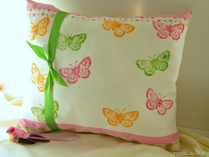 Stamped Butterfly Pillow