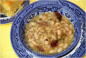 New Orleans Style Cajun White Beans with Rice