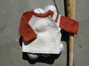 Baby's Baseball Sweater