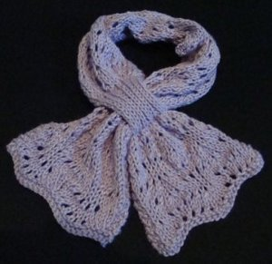 Knit Butterfly Stitch Scarf : One Skein Butterfly Scarf AllFreeKnitting.com