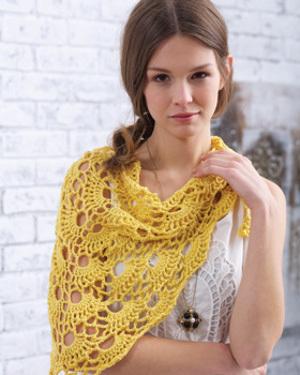Crochet Pattern For Summer Shawl : Summer Morning Shawl AllFreeCrochet.com
