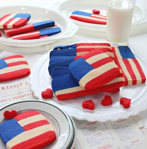 Patriotic Shortbread Cookies