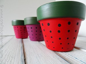 Sweet Strawberry Terracotta Pots