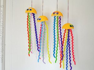 Happy Hanging Jellyfish Craft