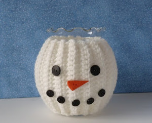Crochet Snowman Jar Cozy
