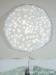 Giant Coffee Filter Snowball Light