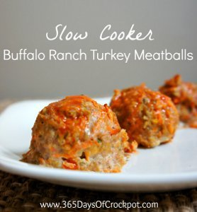 Buffalo Ranch Turkey Meatballs