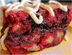 Slow Cooker Red Velvet Bread Pudding
