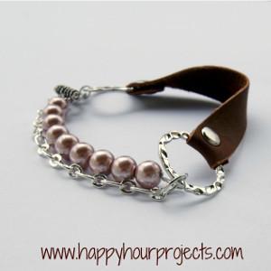 Chic Mixed Media Leather Bracelet