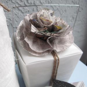Newspaper Flower Gift Topper