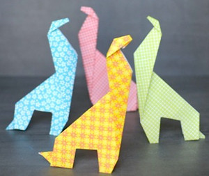 Easy Origami Giraffe | AllFreeKidsCrafts.com - photo#20