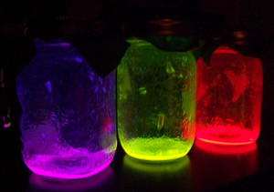 Glowing Mason Jars