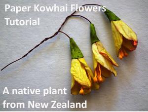 Kowhai Paper Flower