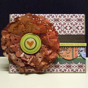 Doily Flower Card