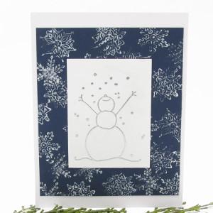 Embossed Let It Snow Card