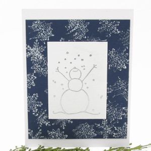 Embossed Let It Snow Card