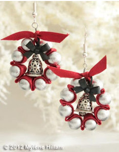 Jingle Bell Wreath Earrings