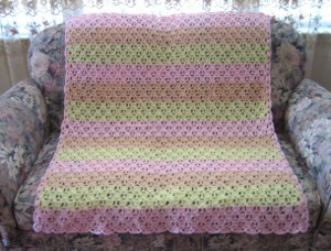 Strawberry Sunrise Afghan Crochet Blanket Patterns