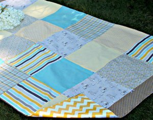 Seaside Chevron Picnic Quilt