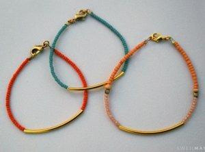 Easy Seed Bead Tube Bracelet