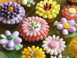 Floral Shower Cupcakes