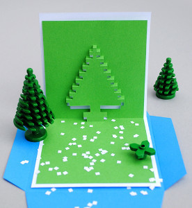 Christmas Pixel Pop-Up Card