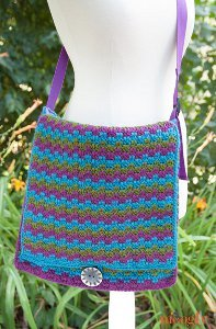 How To Make Crochet Bags And Purses : Mesmerizing Messenger Bag AllFreeCrochet.com