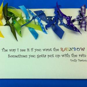 Ribbon RainBOW Card