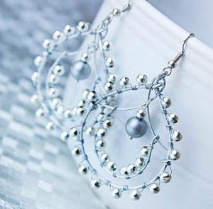 Indian-Style Beaded Earrings