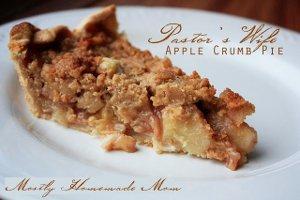 Pastor's Wife Apple Crumb Pie