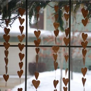 Hand-Sewn Heart Garland