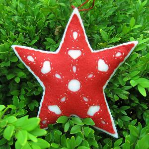 Hungarian Felt Star Ornament