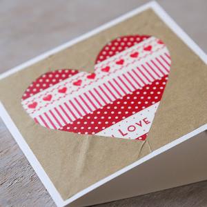 Washi Tape Heart Card