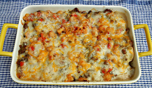Biscuits and Gravy Sausage Casserole