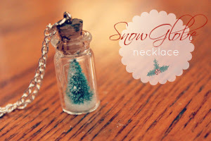 Adorable Mini Snow Globe Necklace