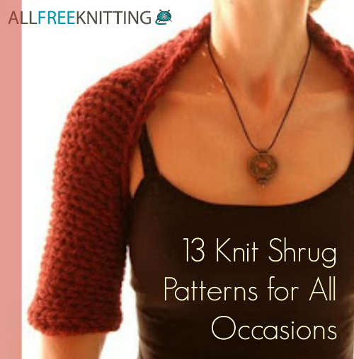 Free Knitting Pattern For Girls Bolero : 13 Knit Shrug Patterns For All Occasions AllFreeKnitting.com