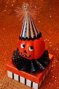 Papier Mache Pumpkin Box