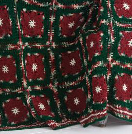 Poinsettia Crochet Motif Afghan