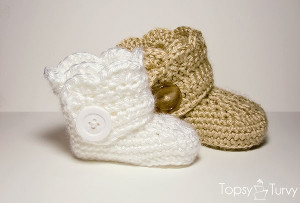 Free Crochet Pattern Baby Snow Boots : Infant Ugg Boots AllFreeCrochet.com