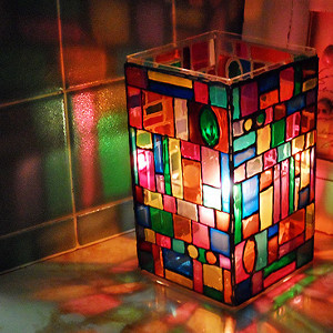 Stained Glass Mosaic Lamp