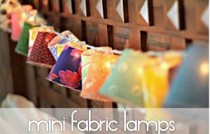 Whimsical Mini Fabric Lamps