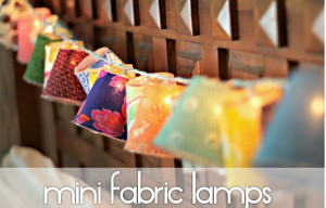 Whimsical Mini Fabric Lamps