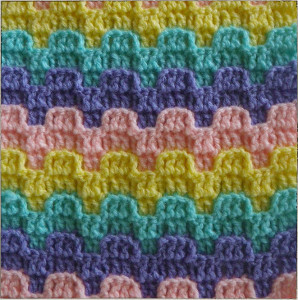 Bargello Crochet Stitch Pattern
