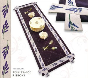 Elegant French Lilacs Table Runner