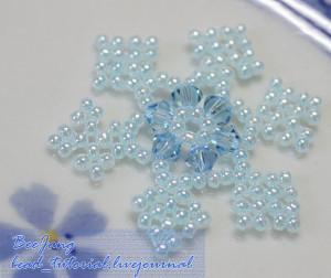 Shimmering Beaded Snowflake Pattern