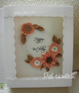 Flowers and Lace Box Card