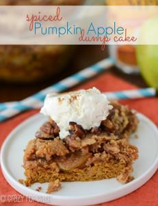 Spiced Pumpkin Apple Dump Cake