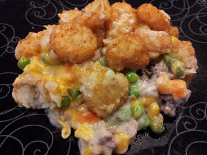 Hubby's Favorite Layered Tater Tot Bake