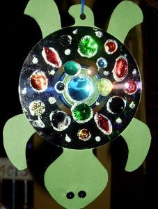 Funky CD Turtle