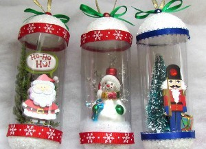 Homemade Snow Globe Ornaments